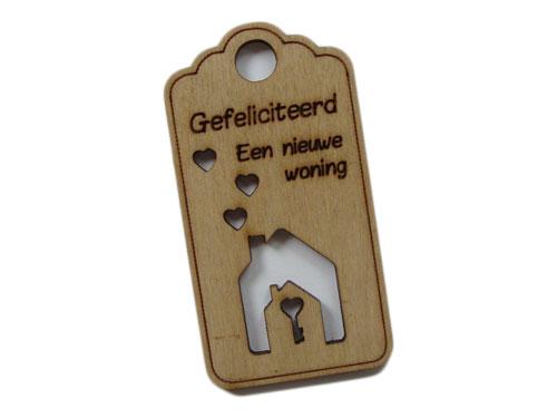 houten label nieuwe woning