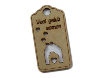 houten label veel geluk samen