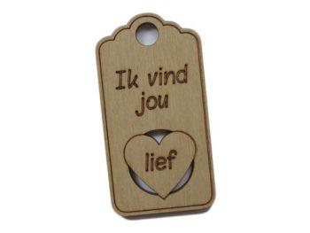 houten label ik vind je lief