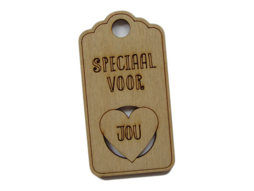 houten label speciaal voor jou (hart)
