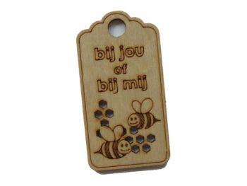 houten label bij jou of bij mij