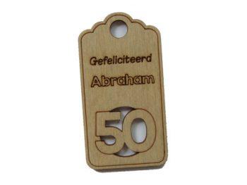 houten label abraham
