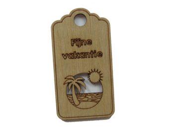 houten label fijne vakantie