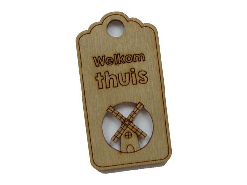 houten label welkom thuis