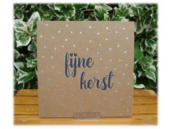 wenskaart letterpress fijne kerst