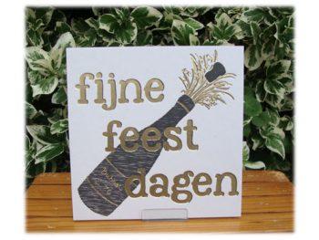 wenskaart letterpress fijne feestdagen