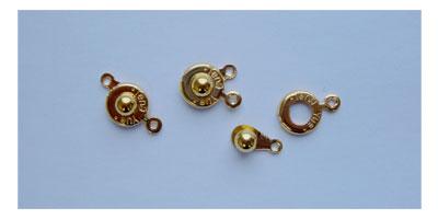 drukkersluiting 10mm goudkleur