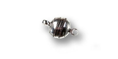 magneetsluiting 8mm bol bewerkt zilver