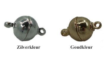 magneetsluiting bol 10mm zilver en goud