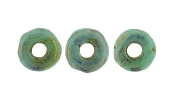 O-beads turquoise bronze picasso
