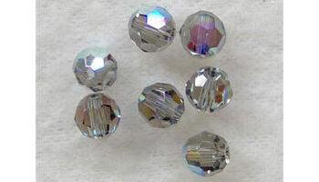 Swarovski round bead 6mm black diamond AB