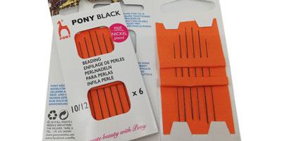 rijgnaald 10-12 black Pony