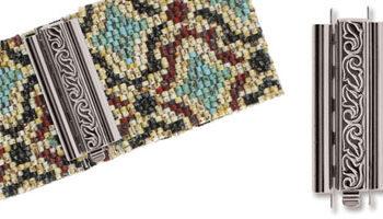 beadslide peyote sluiting swirl design 10x29mm silver