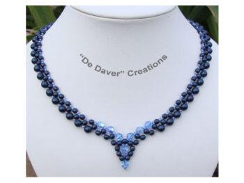 Pakket collier Angel De Daver Creations nachtblauw - ijsblauw