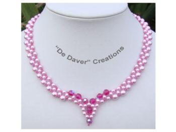 Pakket collier Angel De Daver Creations rose - fuchsia
