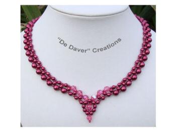 Pakket collier Angel De Daver Creations bordeaux - rose