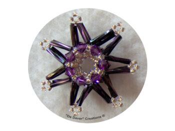Pakket 3-D sterren De Daver Creations paars (inhoud voor 3 sterren)