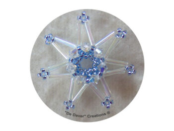 Pakket 3-D sterren De Daver Creations crystal (inhoud voor 3 sterren)