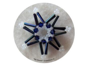 Pakket 3-D sterren De Daver Creations blauw (inhoud voor 3 sterren)