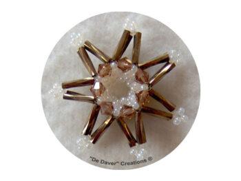 Pakket 3-D sterren De Daver Creations brons (inhoud voor 3 sterren)
