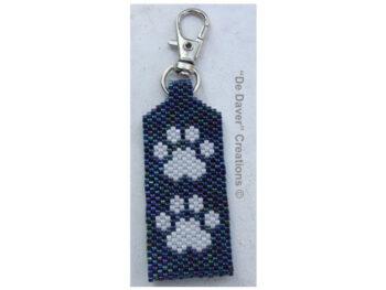 Pakket tag honden/poezenpootjes metallic cosmos