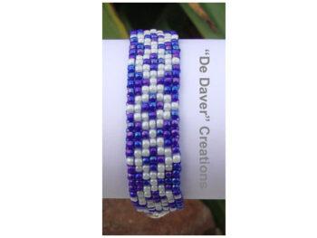 Youtube pakket armband blauw-wit