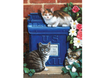 painting by numbers mailbox kittens
