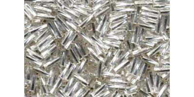 miyuki twisted bugle 6mm silverlined crystal