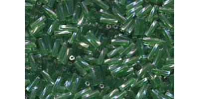 miyuki twisted bugle 6mm transparant green AB
