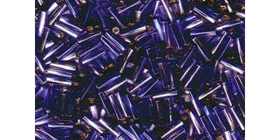 miyuki twisted bugle 6mm silverlined claer-cobalt